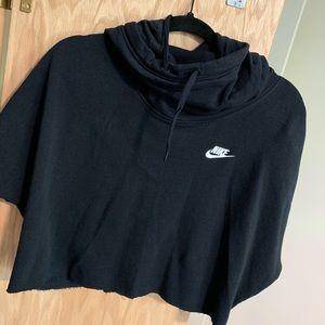 Super cute cropped short sleeve Nike hoodie